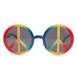 Rainbow World Peace Sign Costume Glasses - rainbow2 - Ineffable Shop