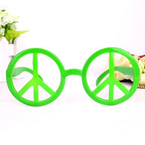 Rainbow World Peace Sign Costume Glasses - green - Ineffable Shop