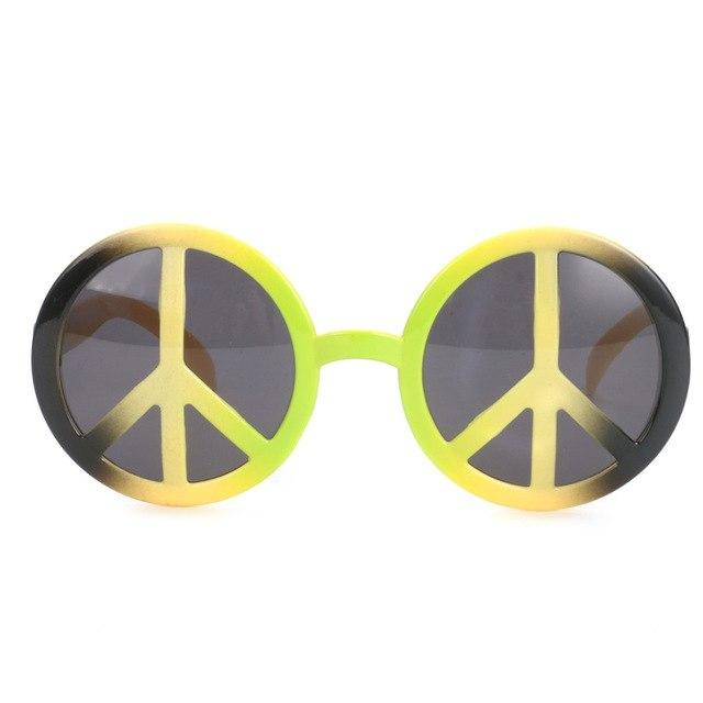 Rainbow World Peace Sign Costume Glasses - yellow - Ineffable Shop