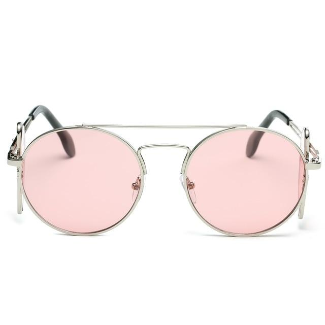 Steampunk Sunglasses - Silver and Pink - Ineffable Shop