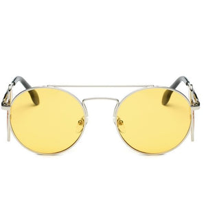 Steampunk Sunglasses - Silver and Yellow - Ineffable Shop