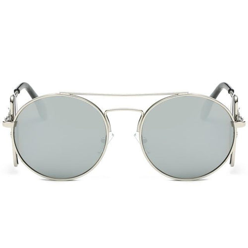 Steampunk Sunglasses - Silver and White - Ineffable Shop