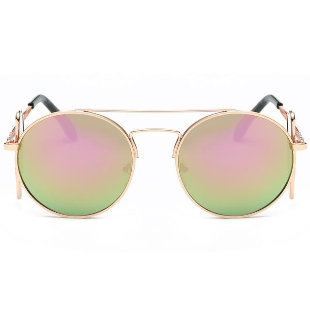 Steampunk Sunglasses - Gold and Pink - Ineffable Shop