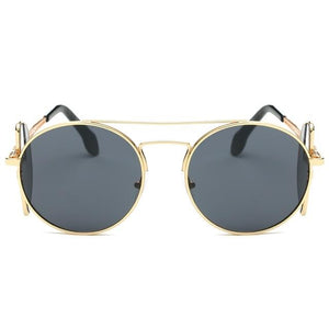 Steampunk Sunglasses - Gold and Gray - Ineffable Shop