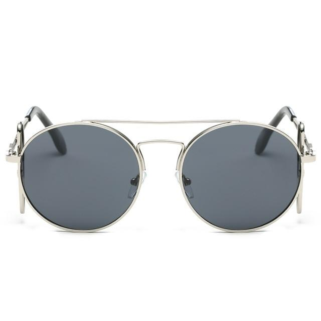 Steampunk Sunglasses - Silver and Gray - Ineffable Shop