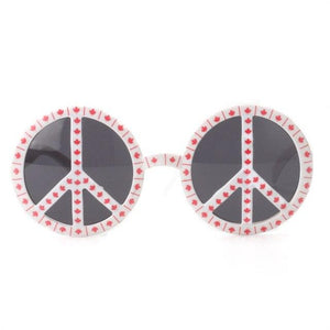 Rainbow World Peace Sign Costume Glasses - maple - Ineffable Shop
