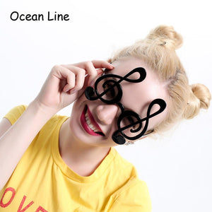 Super Cool Black Musical Note Glasses - - Ineffable Shop