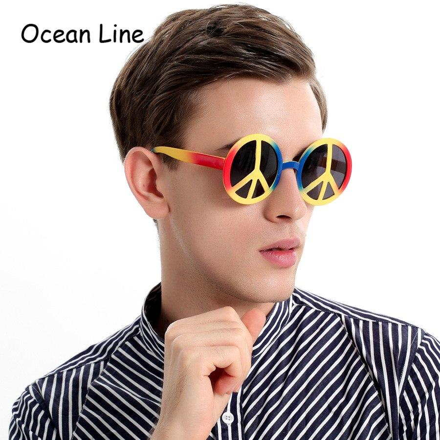 Rainbow World Peace Sign Costume Glasses - - Ineffable Shop
