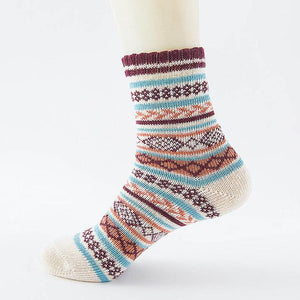 Native American Wool Casual Socks - One Size Fits Most - 02 - Ineffable Shop