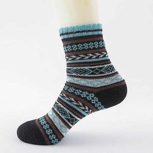 Native American Wool Casual Socks - One Size Fits Most - 03 - Ineffable Shop