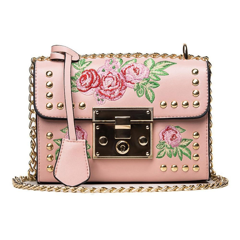Retro Flower Small Shoulder Bag - - Ineffable Shop