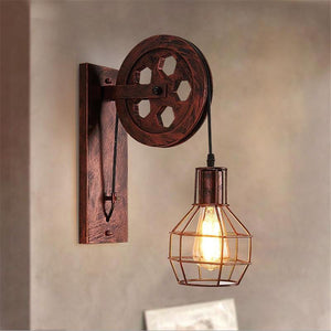 Creative Vintage Wall Lamp - Red (Without bulb) - Ineffable Shop