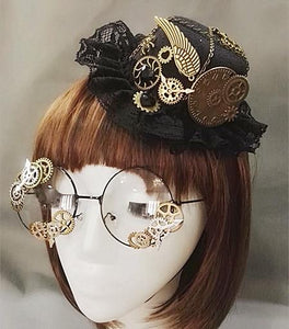 Steampunk Mini Top Hat & Glasses - - Ineffable Shop