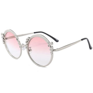 Vintage Sunglasses - Silver Pink - Ineffable Shop