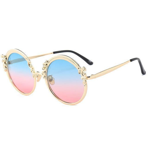 Vintage Sunglasses - Gold BluePink - Ineffable Shop