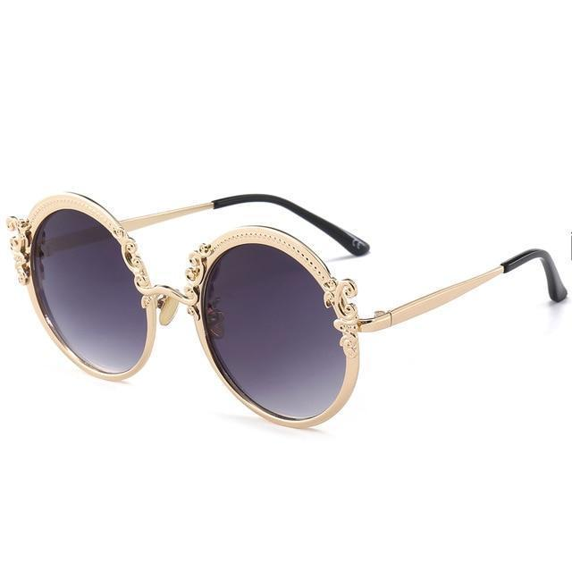 Vintage Sunglasses - Gold Gray - Ineffable Shop