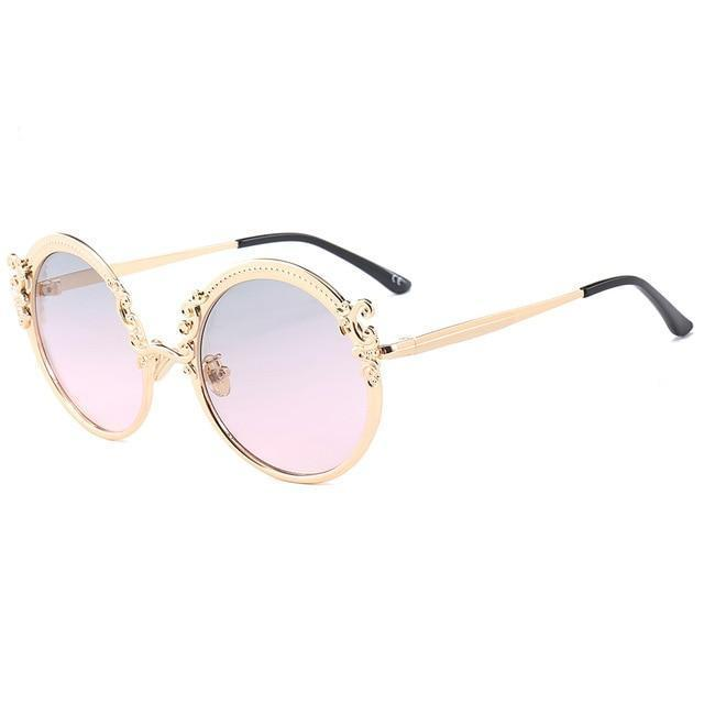 Vintage Sunglasses - Gold Pink - Ineffable Shop