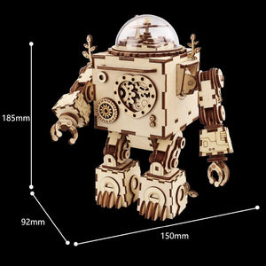Steampunk Robot Wooden Music Box - - Ineffable Shop