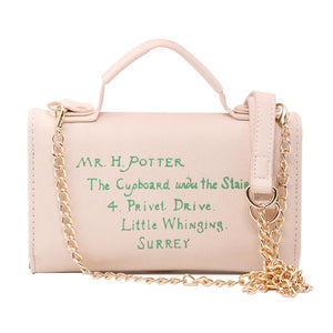 Harry Potter Hogwarts Letter PU Handbag - - Ineffable Shop