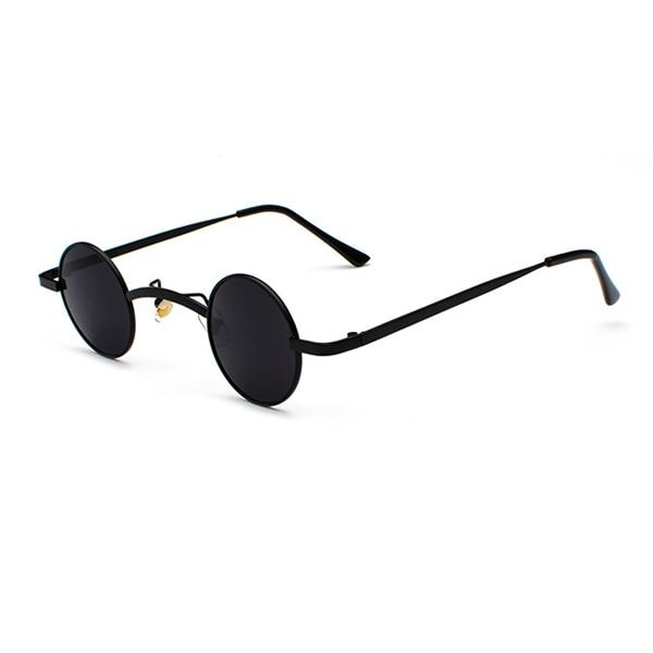 Small Round Steampunk Sunglasses - Black black - Ineffable Shop