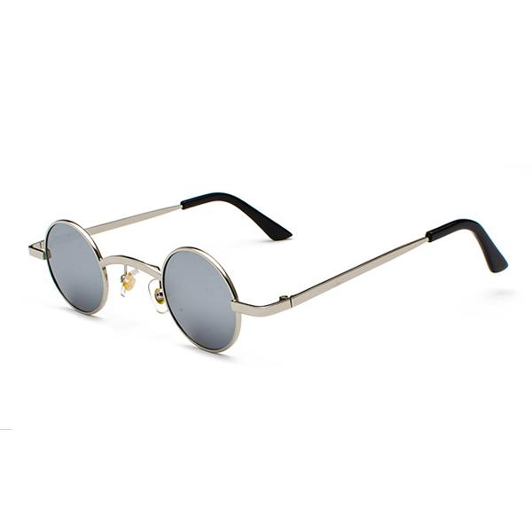 Small Round Steampunk Sunglasses - Silver silver - Ineffable Shop