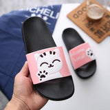 "Cute Cat ""Welcome Home!"" Slippers - Pink / US5 (EU36) - Ineffable Shop"