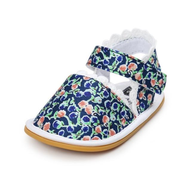 2018 Newborn Baby Shoes Fashion Newborn Girl Baby Retro Printed First Walker Toddlers Kids Soft Bottom Cotton Shoes - as picture 2 / 3 - Ineffable Shop