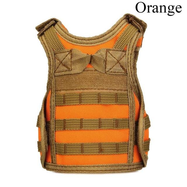 Tactical Premium Beer Military Molle | Mini Miniature Hunting Vests Beverage Cooler - Orange - Ineffable Shop