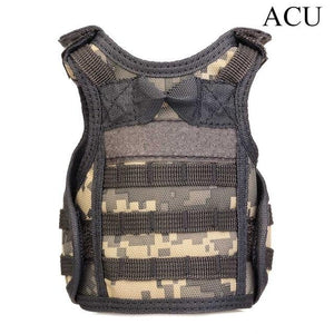 Tactical Premium Beer Military Molle | Mini Miniature Hunting Vests Beverage Cooler - ACU - Ineffable Shop