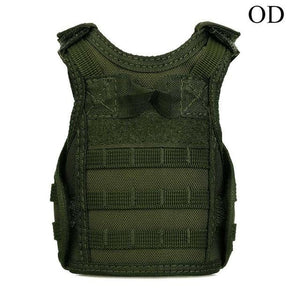 Tactical Premium Beer Military Molle | Mini Miniature Hunting Vests Beverage Cooler - OD - Ineffable Shop