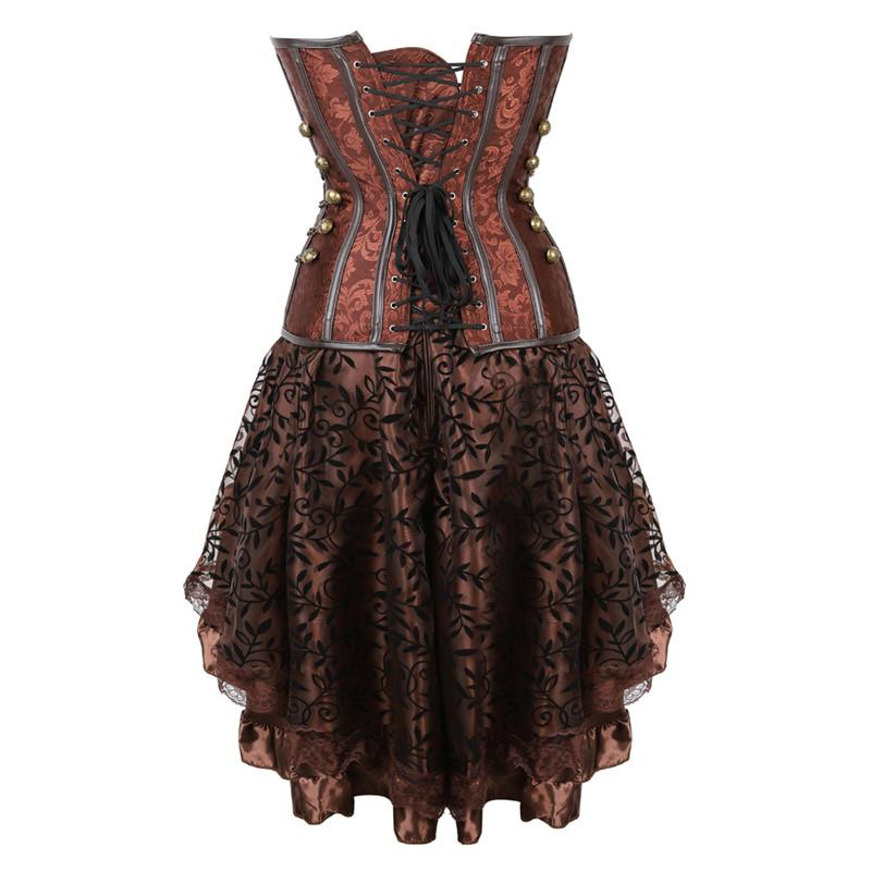 Steampunk Corset Skirt Set - - Ineffable Shop