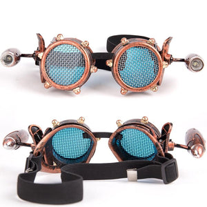 Steampunk Goggles Glasses With Small Lamps - - Ineffable Shop