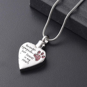 Pet Urn Necklace - No Longer by My Side... But Forever in My Heart - - Ineffable Shop