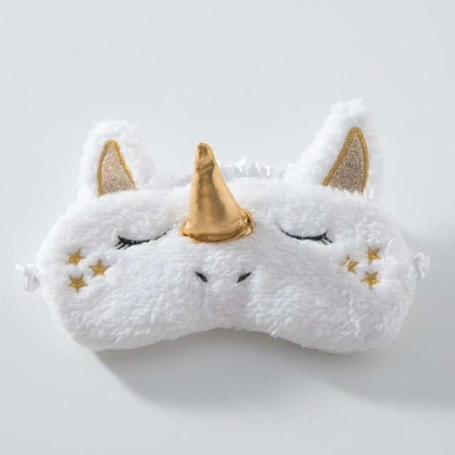 Plush Unicorn Sleeping Eye Mask - Ineffable Shop