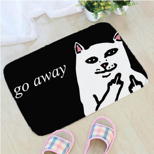 Funny Middle Finger Cat Bathroom Mat - Ineffable Shop