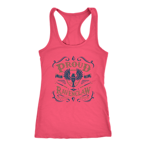 Ravenclaw Pride Next Level Racerback Tank - Next Level Racerback Tank / Hot Pink / XS - Ineffable Shop