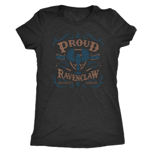 Ravenclaw Pride Next Level Womens Triblend - Next Level Womens Triblend / Vintage Black / S - Ineffable Shop