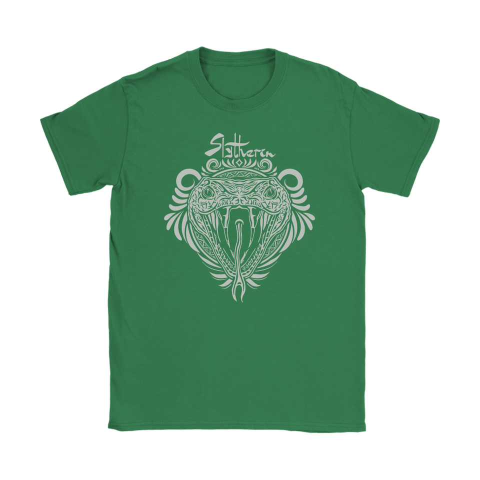 Harry Potter Vintage Slytherin Gildan Womens T-Shirt - Ineffable Shop
