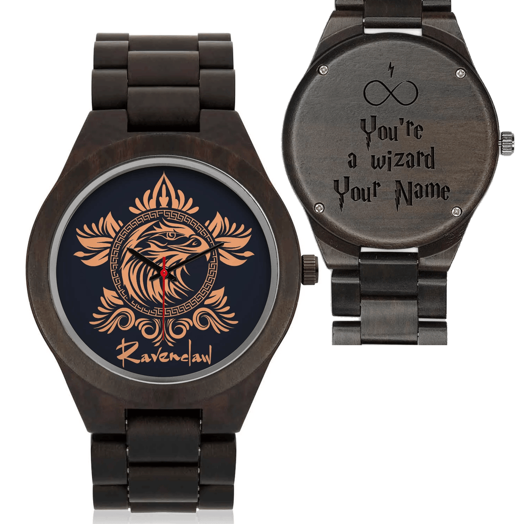 Custom Name - Ravenclaw Wood Watches - HCW0001 - Ineffable Shop