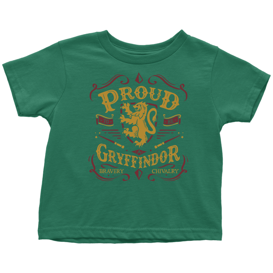 Gryffindor Pride Toddler T-Shirt - Toddler T-Shirt / Grass Green / 2T - Ineffable Shop