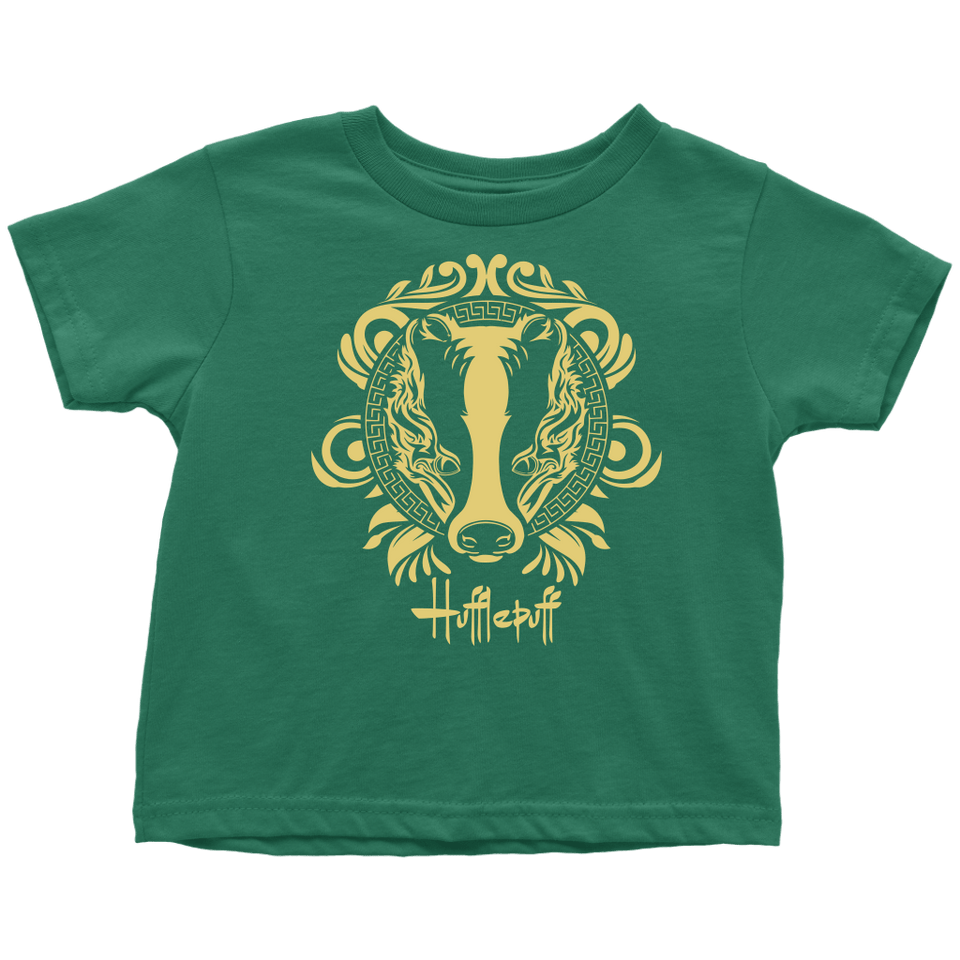 Harry Potter Vintage Hufflepuff Toddler T-Shirt - Toddler T-Shirt / Grass Green / 2T - Ineffable Shop