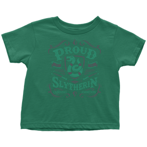Slytherin Toddler T-Shirt - Toddler T-Shirt / Grass Green / 2T - Ineffable Shop