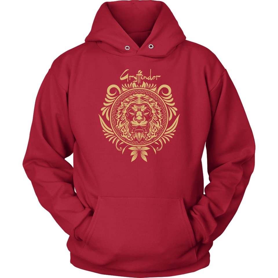 Harry Potter Vintage Gryffindor Badge Unisex Hoodie - Unisex Hoodie / Red / S - Ineffable Shop