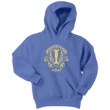 Harry Potter Vintage Hufflepuff Youth Hoodie - Youth Hoodie / Carolina Blue / XS - Ineffable Shop