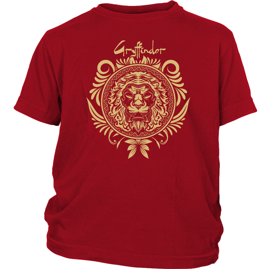 Harry Potter Vintage Gryffindor Badge District Youth Shirt - District Youth Shirt / Red / XS - Ineffable Shop