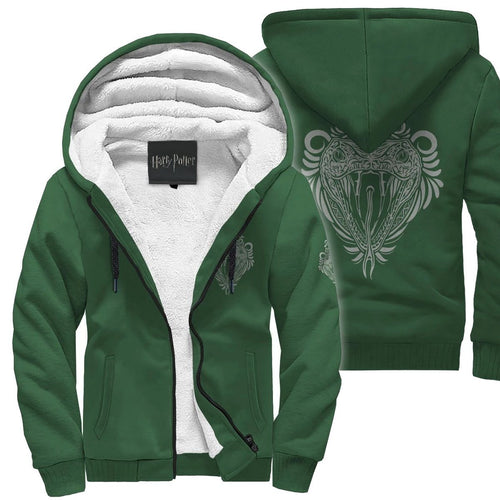 Harry Potter Slytherin Sherpa Hoodie HPSH001 - - Ineffable Shop