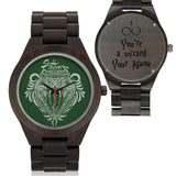 Custom Name - Slytherin Wood Watches - HCW0001 - Ineffable Shop
