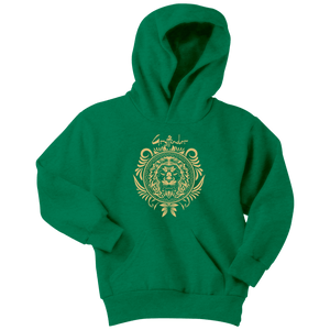 Harry Potter Vintage Gryffindor Badge Youth Hoodie - Youth Hoodie / Kelly Green / XS - Ineffable Shop