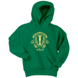 Harry Potter Vintage Hufflepuff Youth Hoodie - Youth Hoodie / Kelly Green / XS - Ineffable Shop
