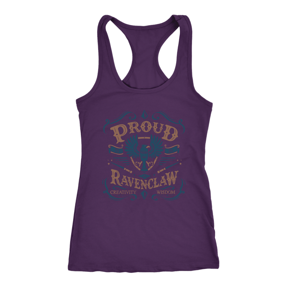 Ravenclaw Pride Next Level Racerback Tank - Next Level Racerback Tank / Purple / XS - Ineffable Shop